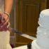 Krájení svatebního dortu - úvodní foto