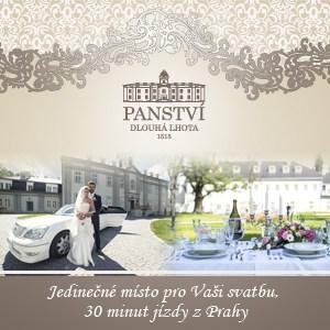 Pohádková svatba na zámku Panství Dlouhá Lhota
