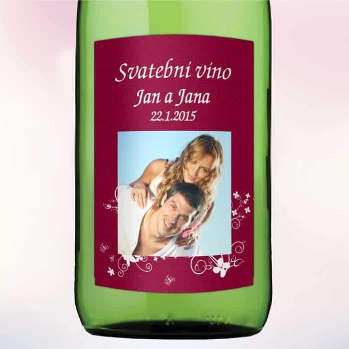 Etiketa na víno FLOWER 5,5 x 8 cm