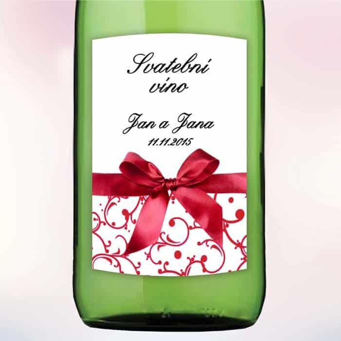 Etiketa na víno Mašle 5,5 x 8 cm