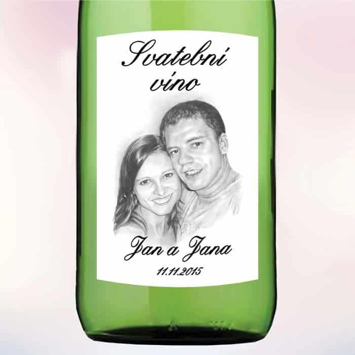 Etiketa na víno PORTRÉT 9 x 10 cm