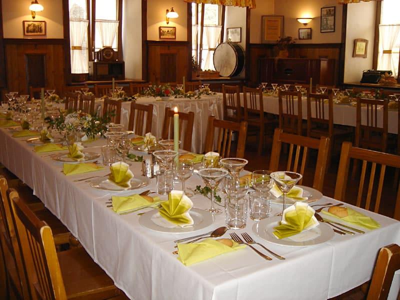 Svatební hostina v penzionu
