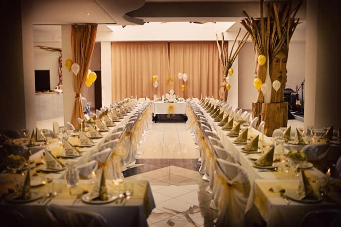Svatební hostina v sálu Penzionu Brixen