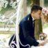 Novomanželé v kočáru