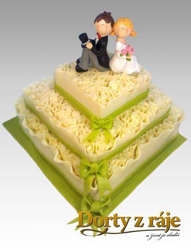 Svatební dort s novomanželi