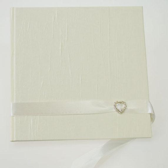 Svatební kniha 40 stran, smetanová barva, rozměr 20 x 20 cm