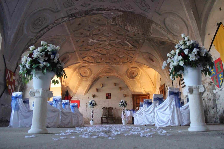 Oddací místo na zámku Kounice