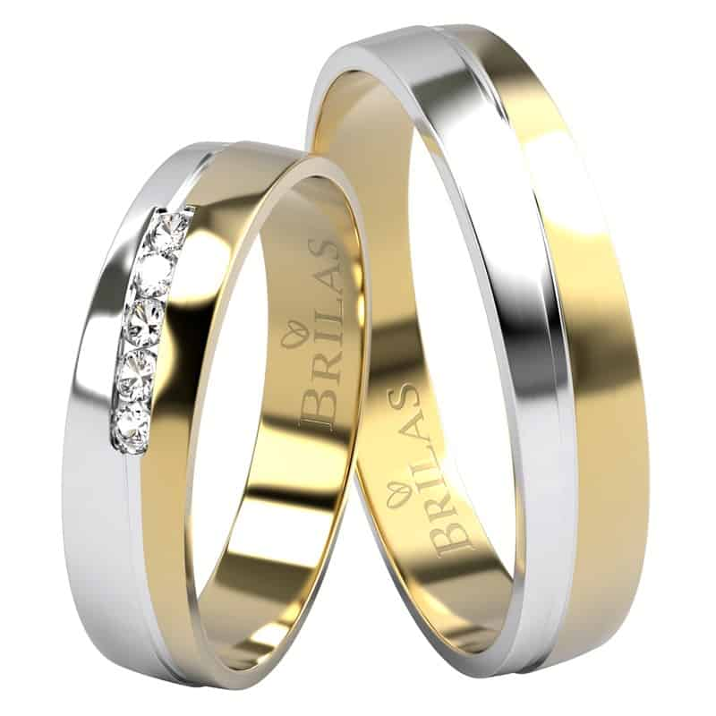 Snubní prsteny Evelyn Colour