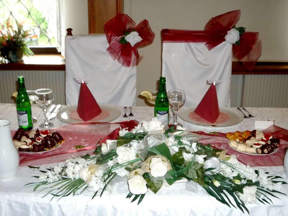 Golemův restaurant - svatební stůl pro novomanžele