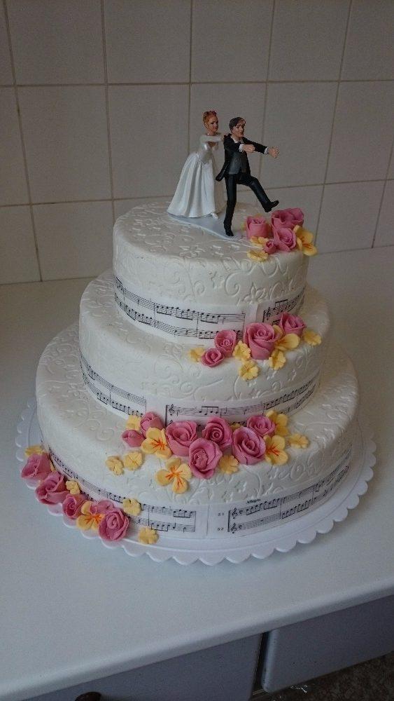 Svatební dort hudební - Růžová cukrárna