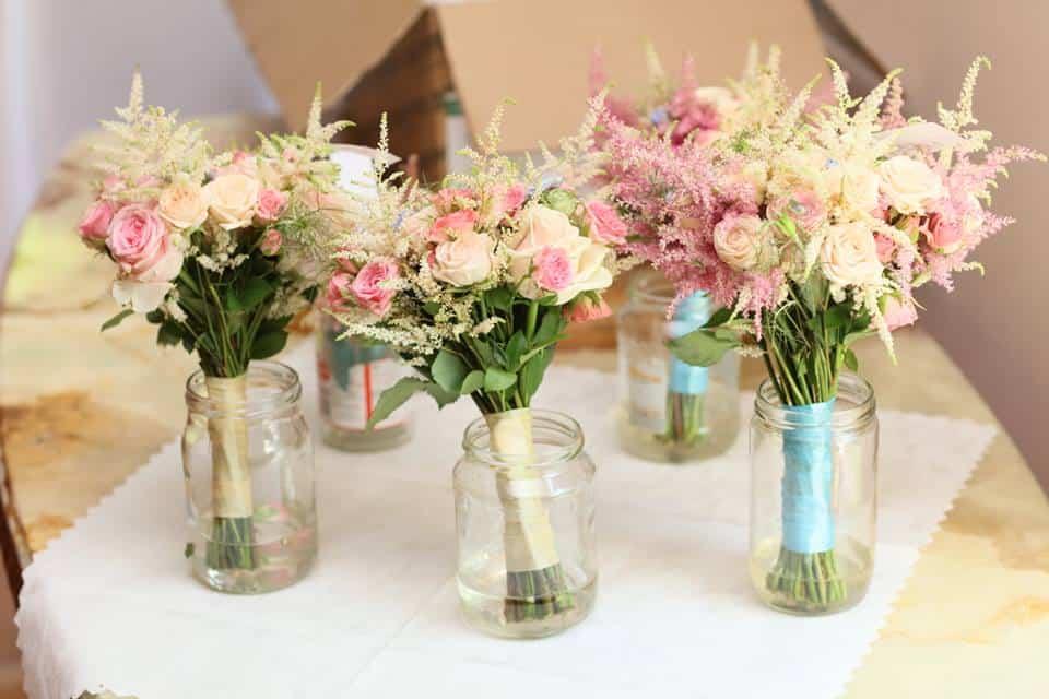 Svatební kytice pro nevěstu a družičky Studio Flores