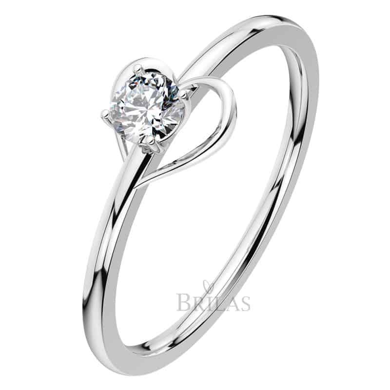 Zásnubní prsten Lamia White