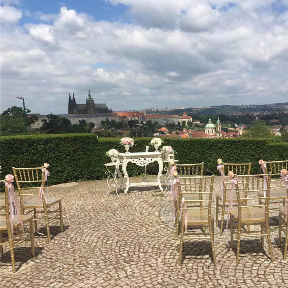 Nebozízek - Svatební obřad s výhledem na hrad