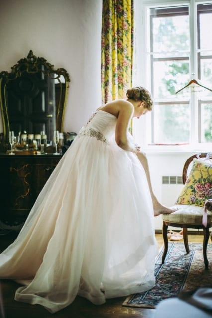 Nevěsta v pokoji Zámek Hostačov
