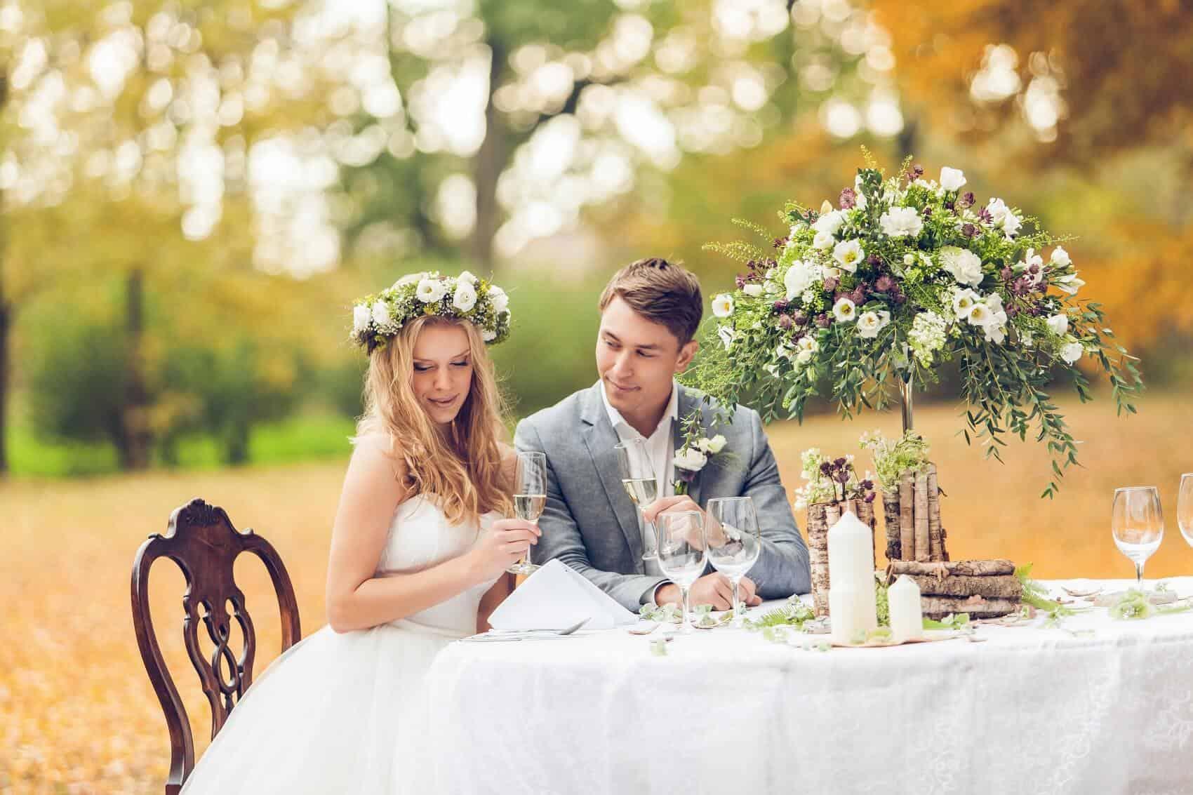 Svatební hostina v parku