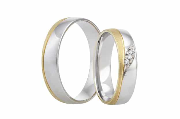 Snubní prsteny se žlutým zlatem