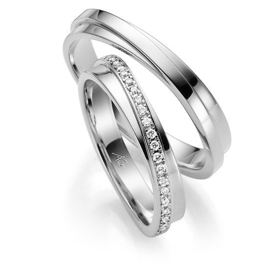 Zlatnictví Řehák - Karnas - Snubní prsteny bílé zlato