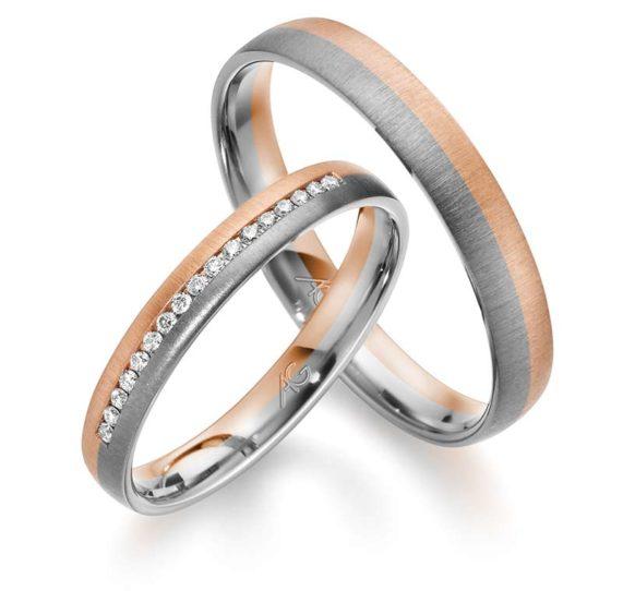 Zlatnictví Řehák - Karnas - Snubní prsteny kombinované