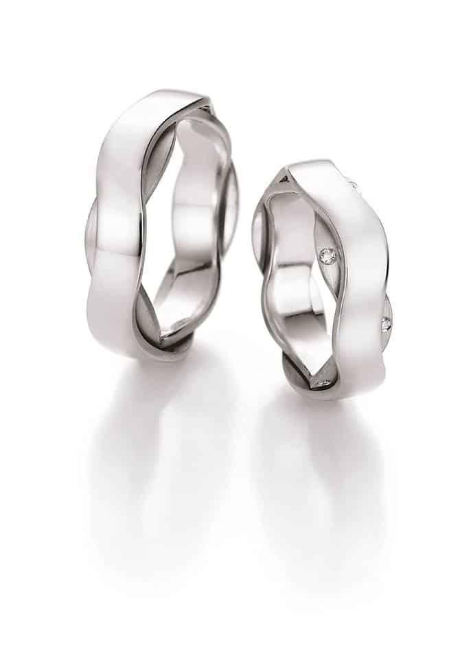 Snubní prsteny vlnky- Ráj snubních prstenů