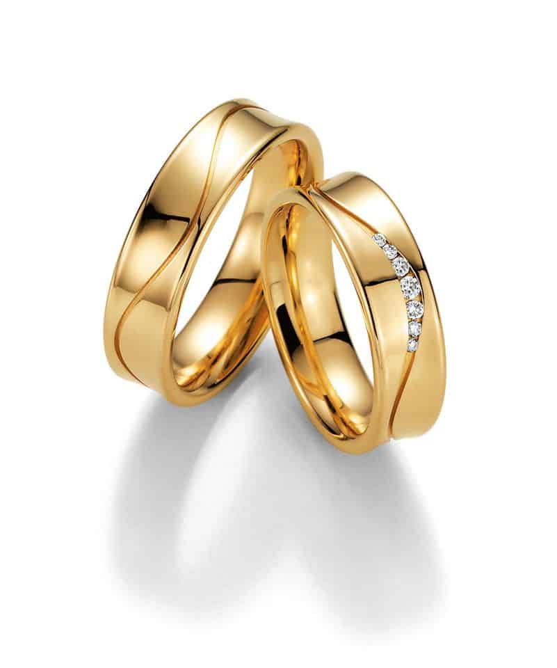 Snubní prsteny žluté zlato- Ráj snubních prstenů