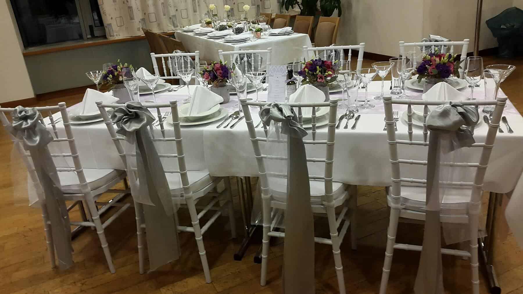 Svatební hostina stříbrná hotel Troja