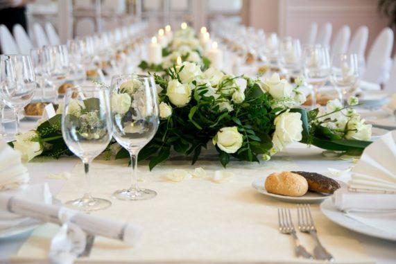 Detail svatební hostiny Resort Sanssouci