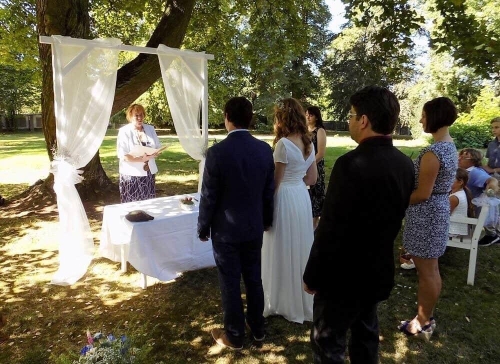 Svatební obřad - Zámek Lobeč