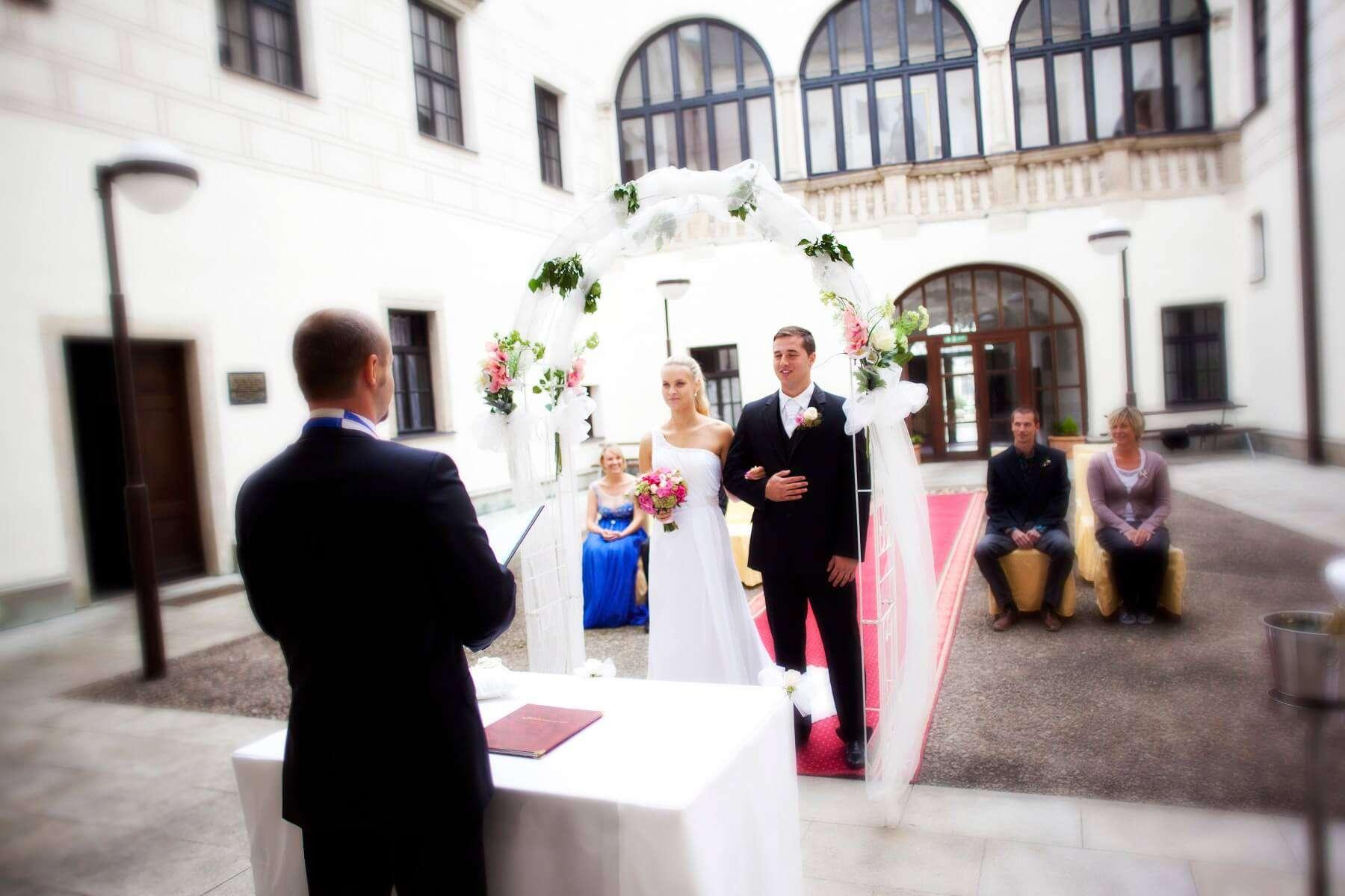 Zámek Třešť svatební obřad
