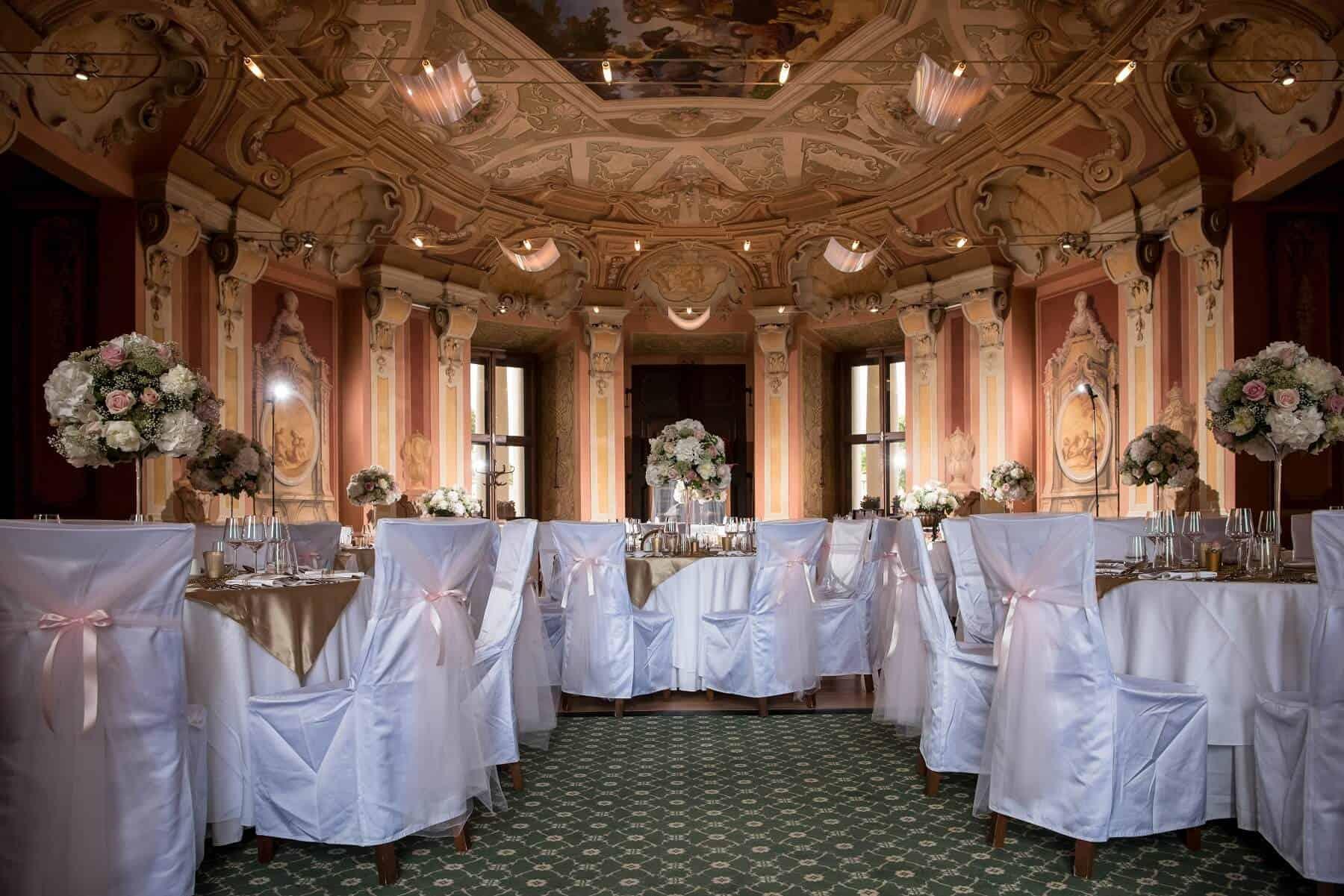 Zámek Liblice svatební hostina