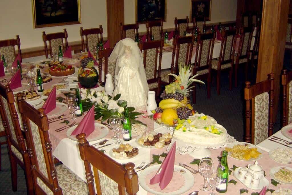 Golemův restaurant - svatební tabule čelo