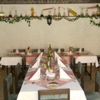 Golemův restaurant - svatební tabule pod střechou