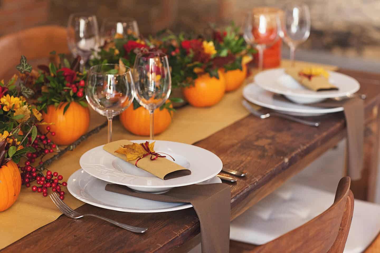 Hodějovický mlýn - dekorace stolu