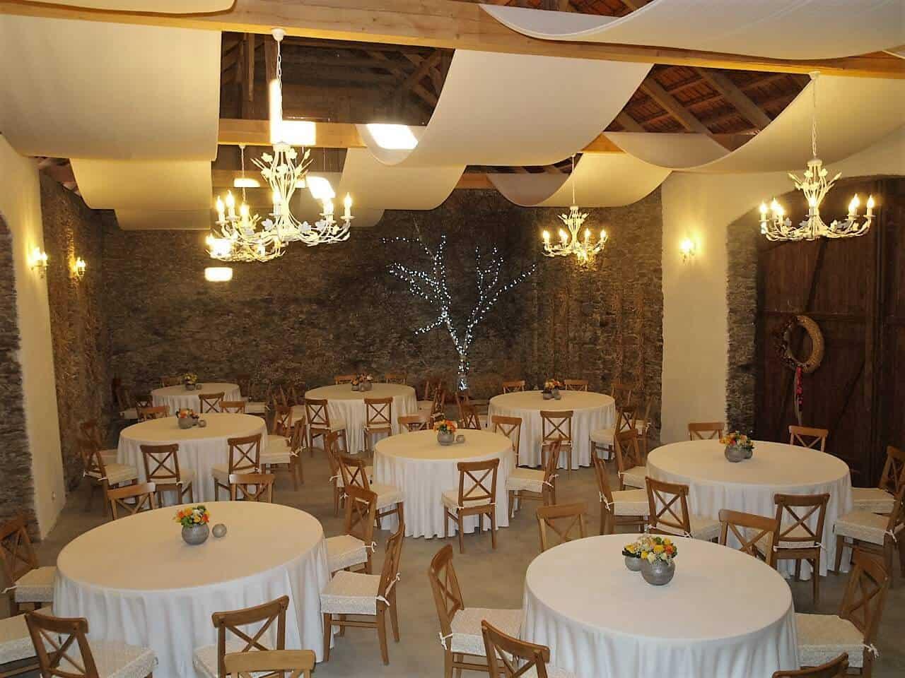 Hodějovický mlýn - stoly