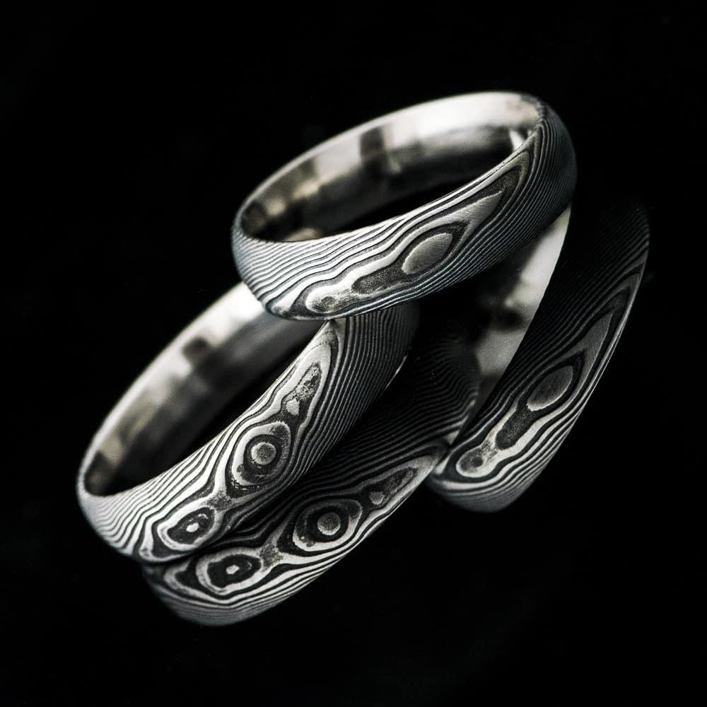 snubni prsteny Prima damasteel kredum