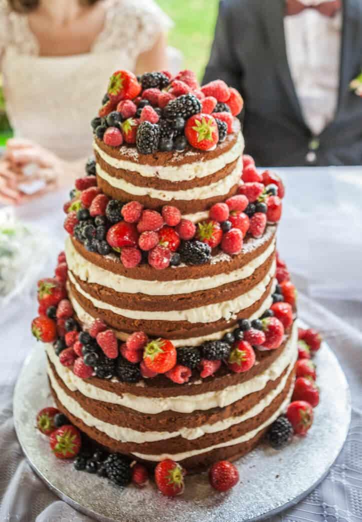 Svatební dort z cukrárny Anna Magdaléna ovocný