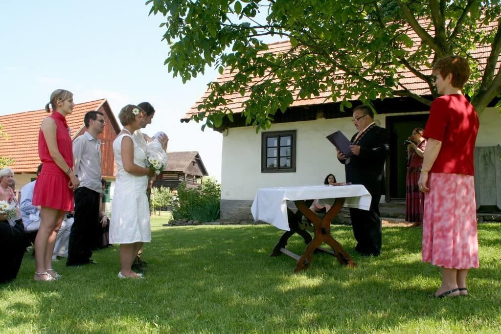 Svatba ve švestkovém sadu