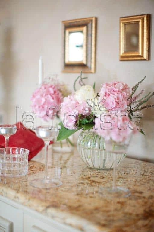 Svatební květinová dekorace detail