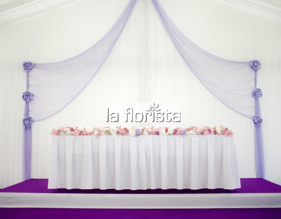 Svatební výzdoba párty stanu