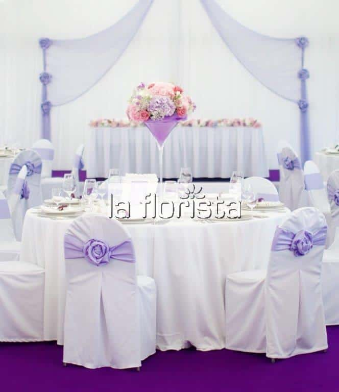 Svatební výzdoba párty stanu stůl