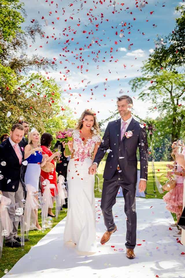 Zámek Bechyně svatba v parku