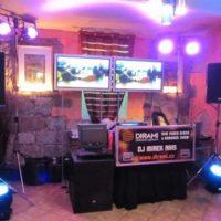 Dirami foto mixážní pult s velkými obrazovkami