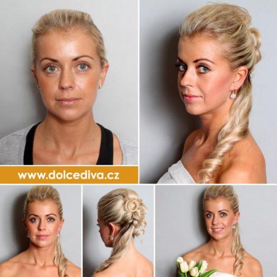 Dolce Diva účes nevěsta blondýna