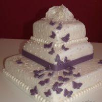 Svatební dort motýlci