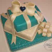 Svatební dort mašle