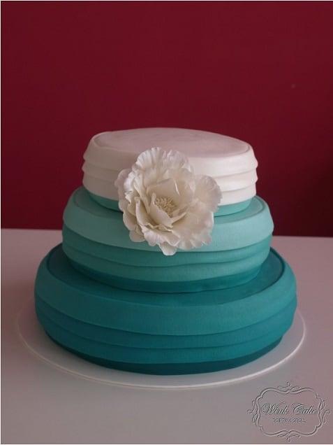 Svatební dort zelenkavá