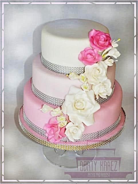 Dorty Kařez dort růžový