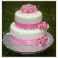 Dorty Praha růžový dort