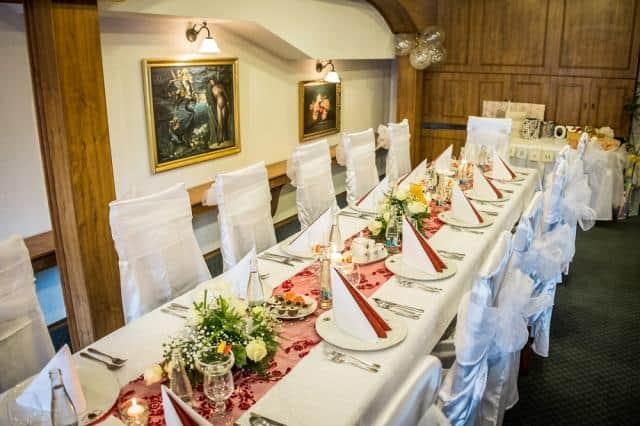 Golemův restaurant - svatební tabule