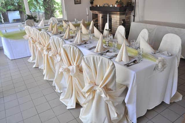 Hotel Svornost dekorace svatební tabule