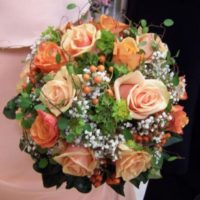 Květinové studio Bubeníčková kytice oranžová